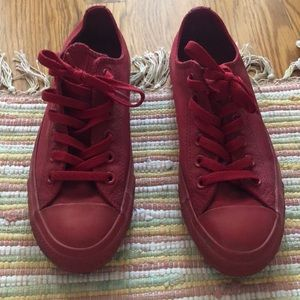 Converse Shoes - Converse All Red Low Top